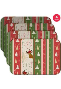 Jogo Americano Love Decor Wevans Merry Christmas Kit Com 4 Pçs