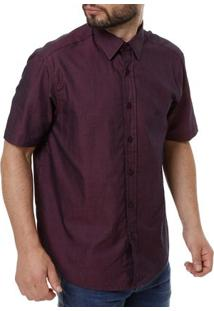Camisa Manga Curta Masculina Roxo