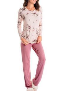 Pijama Vitoria Daniela Tombini Feminino - Feminino-Rosa