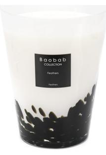 Baobab Collection Vela Aromatizada Feathers 24 - Branco