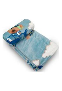Cobertor Bebe Prime Flannel Hazime Dumont Azul