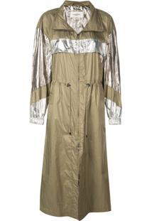 Isabel Marant Trench Coat Impermeável Metalizado - Dourado