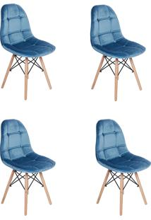 Cadeira E Banco De Jantar Império Brazil Azul