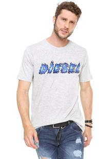 Camiseta Diesel Just Cinza