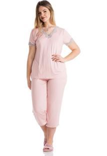 Pijama Platina Capri Rosa/Xg