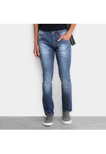 Calça Jeans Skinny Biotipo Elastano Escura Masculina - Masculino-Azul