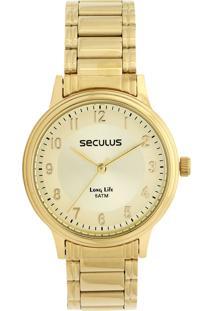 Relógio Seculus 28878Lpsvda1 Dourado
