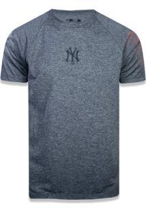 T-Shirt New Era Performance New York Yankees Mescla Grafite