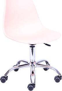 Cadeira Eames Dkr- Salmão & Prateada- 93X47X41Cmor Design