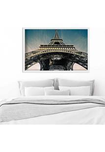 Quadro Love Decor Com Moldura Torre Eiffel Jour Branco Médio