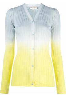 Emilio Pucci Cardigan Com Estampa Tie-Dye De Tricô - Cinza