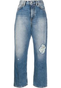Acne Studios 1993 Destroyed Cropped Jeans - Azul