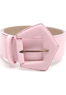 Cinto Birô Fivela Triângulo Feminino - Feminino-Pink