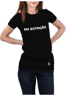 Camiseta Hunter Em Extinção Preta
