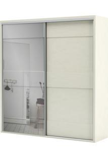 Armario Premium Com Espelho 2 Portas E 2 Gavetas Cor Off White 2,23 Mt (Larg) - 56459 - Sun House