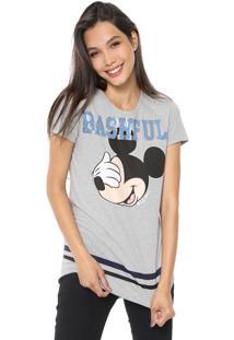 Blusa Cativa Disney Mickey Bashful Cinza