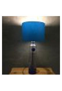 Abajur Decorativo Personalizado Garrafa Ciroc Azul 45X20X20