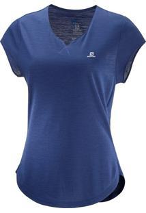 Camiseta Salomon X Ss Feminino Pp Violeta