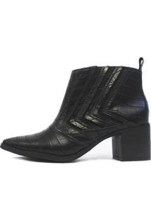 Bota Damannu Shoes Jennifer Feminina - Feminino-Preto
