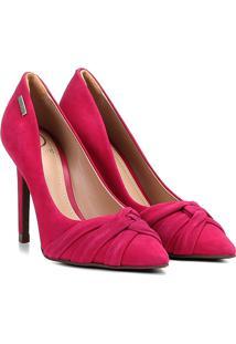 Scarpin Em Suede Dumond Nó Salto Alto Feminino - Feminino-Pink