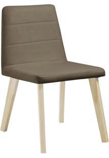 Cadeira De Jantar Caju Veludo Fendi