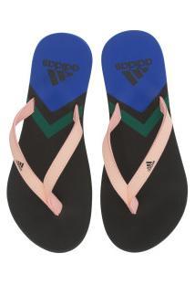 Chinelo Adidas Eezay Flip Flop - Feminino - Cinza Esc/Azul