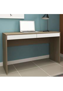 Mesa Para Computador 2 Gavetas Ho-2932 Avelã/Branco - Hecol