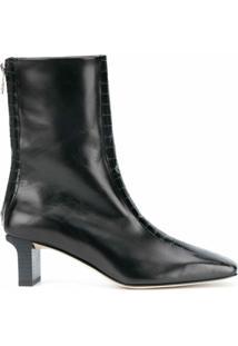 Aeyde Ankle Boot Com Bico Quadrado - Preto