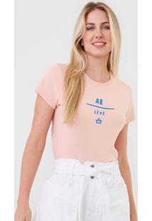 Camiseta Cantão Mood Ar Leve Rosa