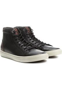 2ddd2b30b5 ... Tênis Couro Cano Alto Shoestock Masculino - Masculino-Preto