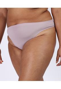 Calcinha Trifil Plus Size Biquíni Em Microfibra Rosa