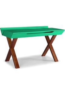 Escrivaninha Stúdio Maxima Cacau/Verde Anis