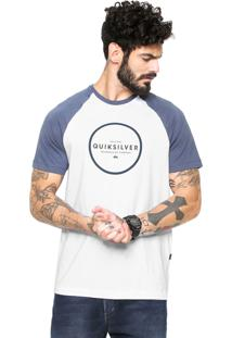 Camiseta Quiksilver Hunter Down Branca/Azul