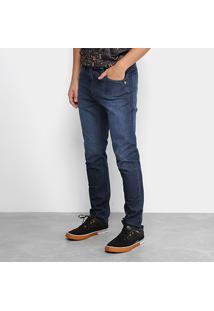 Calça Jeans Okdok Fit 1182208 Masculina - Masculino-Marinho