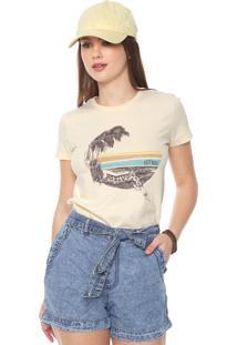 Camiseta Hurley Lost In Bali Amarela
