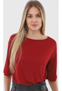 Blusa Dzarm Recorte Vermelha