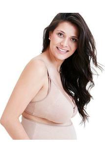 Sutiã De Amamentação De Cotton Mondress - Feminino-Bege