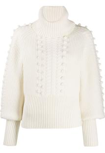 Temperley London Chrissie Bobble Detail Sweater - Branco