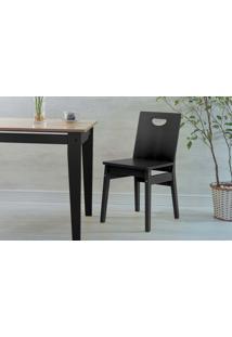 Cadeira Preta Para Mesa De Jantar Tucupi Laca Preto 40X51X81Cm