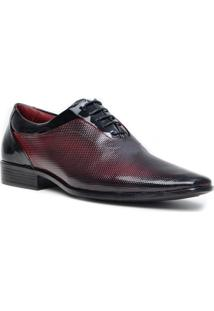 Sapato Social Gofer Promais 12073A Co - Masculino-Vinho