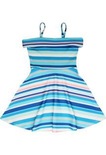 49b28cb21 Vestido Crepe Listrado feminino