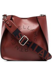 Stella Mccartney Bolsa Transversal Stella Com Logo - Vermelho