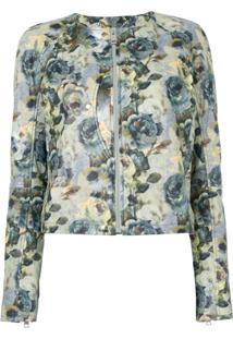 Diesel Jaqueta Com Estampa Floral - Estampado