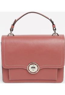 Bolsa Transversal Com Pespontos - Rosa - 21X28X9Cmgriffazzi