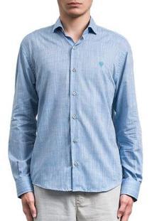 Camisa Salt 35G Rustica Masculina - Masculino-Azul