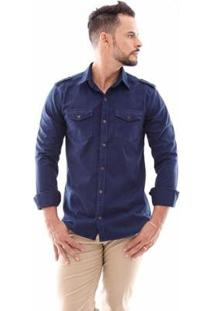 Camisa Amil Paris Slim Manga Longa Ii Masculina - Masculino