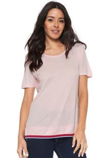 Camiseta Calvin Klein Rib Barra Rosa