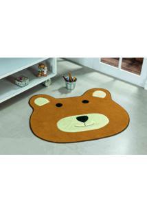 Tapete Antiderrapante Formato Urso Caramelo 0,74 X 0,64 Cm