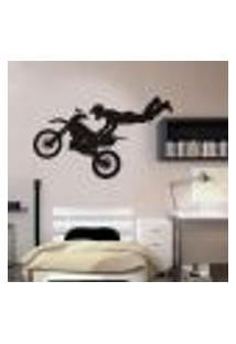 Adesivo De Parede Esporte Motociclismo - G 75X100Cm