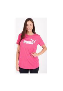 Camiseta Puma Essentials Feminina Pink